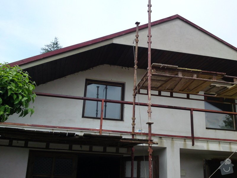 Renovace garáže, fasáda garáže - p.Ježek, Sázava: SE_905_-_17.7.2010_146