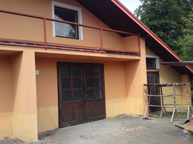 Renovace garáže, fasáda garáže - p.Ježek, Sázava: SE_905_-_17.7.2010_063