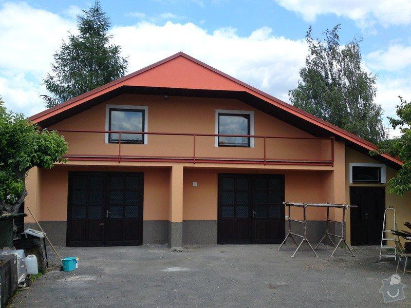 Renovace garáže, fasáda garáže - p.Ježek, Sázava: SE_905_-_17.7.2010_178