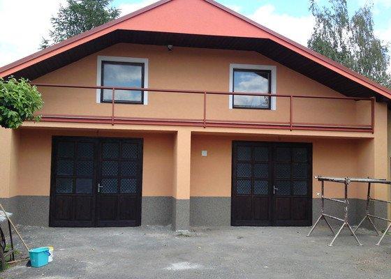 Renovace garáže, fasáda garáže - p.Ježek, Sázava