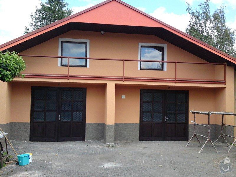 Renovace garáže, fasáda garáže - p.Ježek, Sázava: SE_905_-_17.7.2010_179