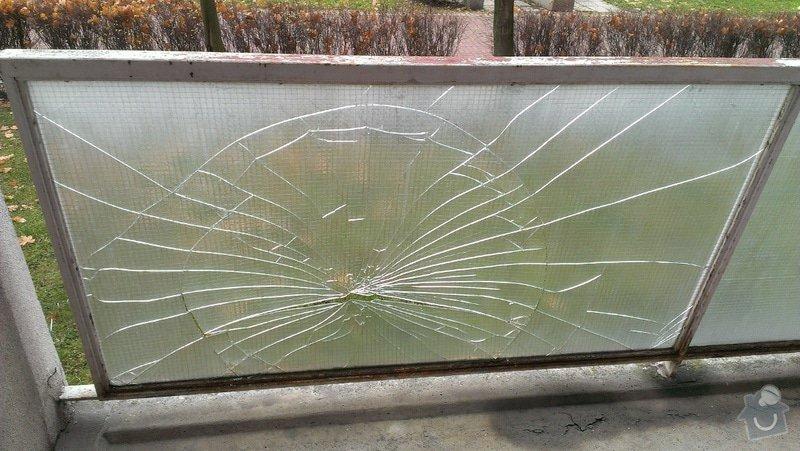 Výměna prasklého skla na balkoně: IMAG0234