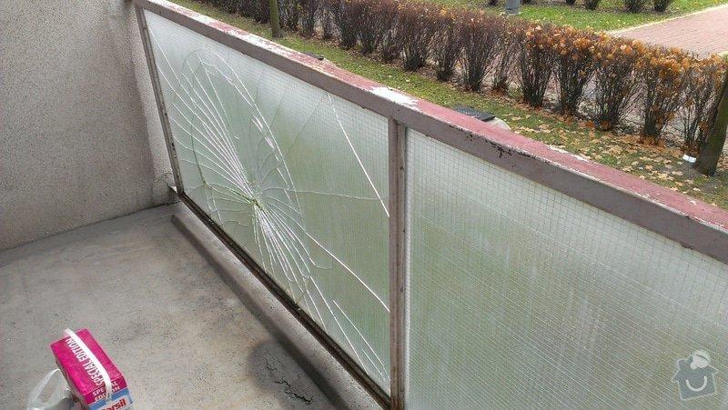 Výměna prasklého skla na balkoně: IMAG0235
