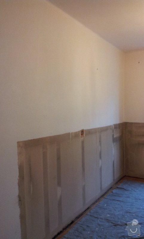 Odhlučnění pokojové stěny 18m2 -sousedí se schodištěm v bytovém domě + zaizolování dveří mezi dvěma pokoji (také kvůli hluku): 20121120_095616