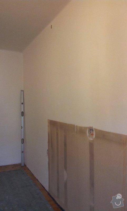 Odhlučnění pokojové stěny 18m2 -sousedí se schodištěm v bytovém domě + zaizolování dveří mezi dvěma pokoji (také kvůli hluku): 20121120_095640