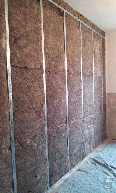 Odhlučnění pokojové stěny 18m2 -sousedí se schodištěm v bytovém domě + zaizolování dveří mezi dvěma pokoji (také kvůli hluku): 20121120_113214