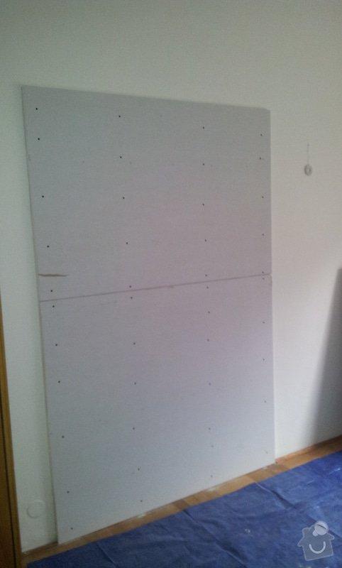 Odhlučnění pokojové stěny 18m2 -sousedí se schodištěm v bytovém domě + zaizolování dveří mezi dvěma pokoji (také kvůli hluku): 20121120_133943