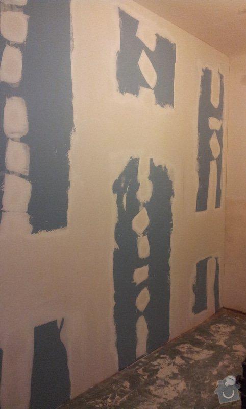 Odhlučnění pokojové stěny 18m2 -sousedí se schodištěm v bytovém domě + zaizolování dveří mezi dvěma pokoji (také kvůli hluku): 20121120_175528