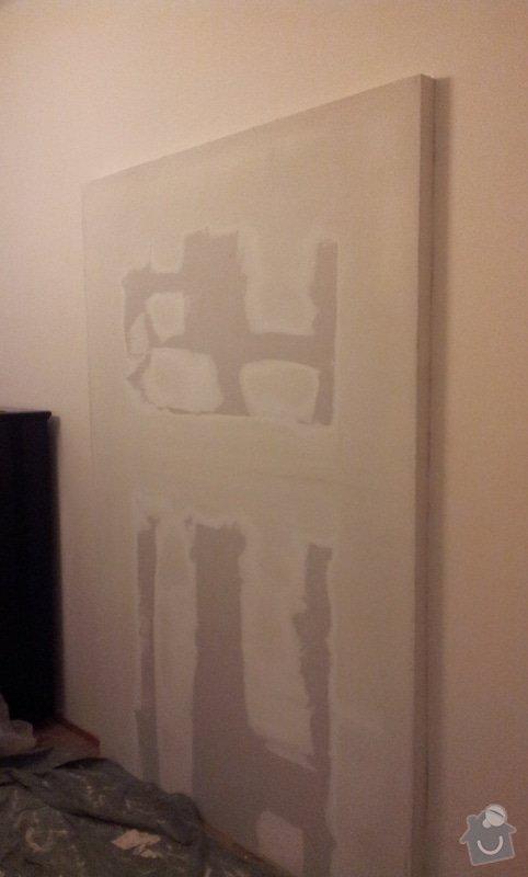 Odhlučnění pokojové stěny 18m2 -sousedí se schodištěm v bytovém domě + zaizolování dveří mezi dvěma pokoji (také kvůli hluku): 20121120_175535