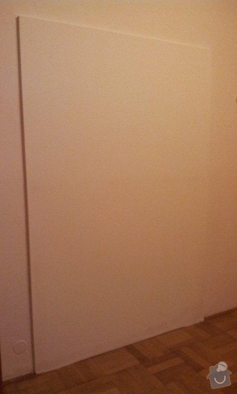 Odhlučnění pokojové stěny 18m2 -sousedí se schodištěm v bytovém domě + zaizolování dveří mezi dvěma pokoji (také kvůli hluku): 20121121_163113