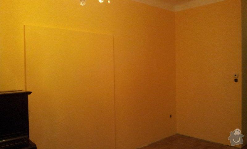 Odhlučnění pokojové stěny 18m2 -sousedí se schodištěm v bytovém domě + zaizolování dveří mezi dvěma pokoji (také kvůli hluku): 20121121_175616