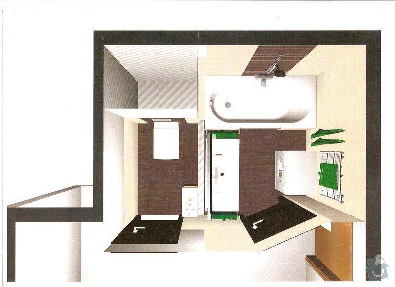 Rekonstrukce bytového jádra a stavební úpravy pro kuchyňskou linku: 00
