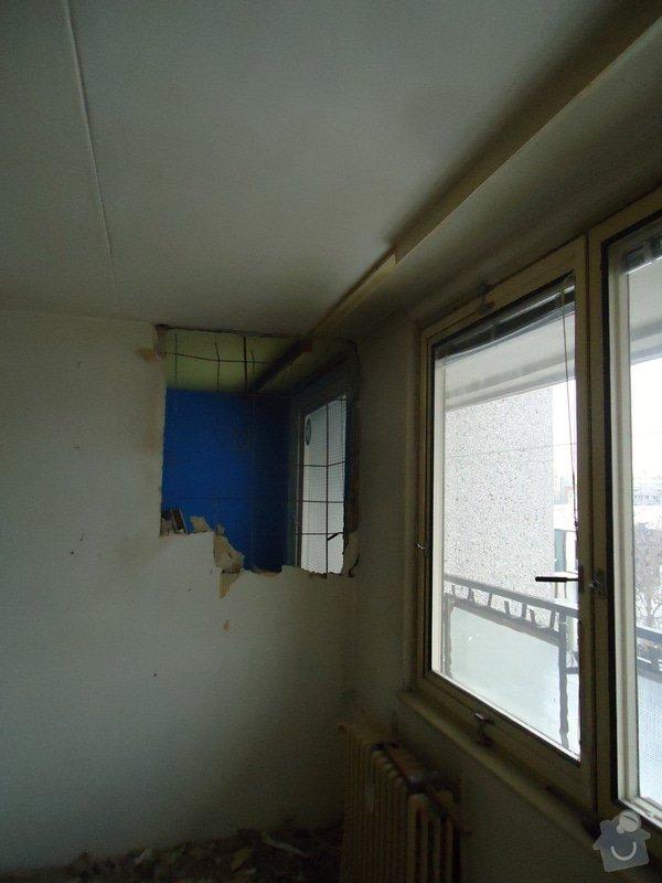 Zednické práce panel. byt - částečné odbourání příčky: DSC00972