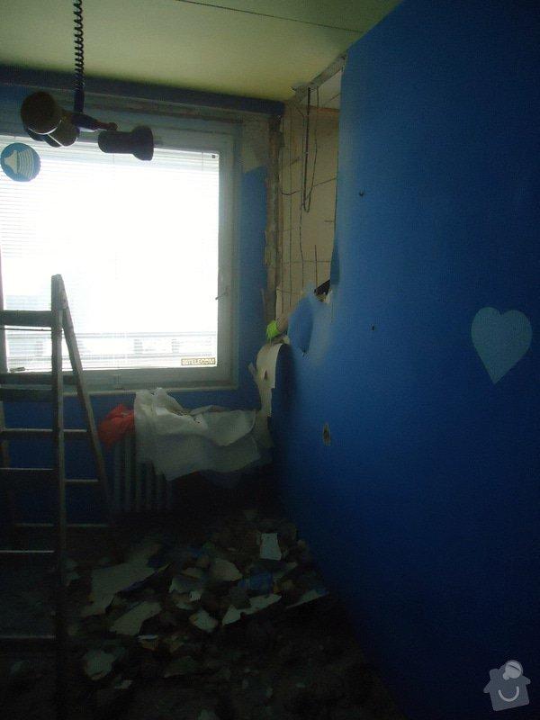 Zednické práce panel. byt - částečné odbourání příčky: DSC00973