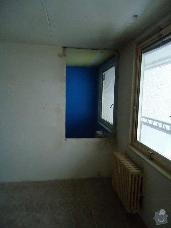 Zednické práce panel. byt - částečné odbourání příčky: DSC00974