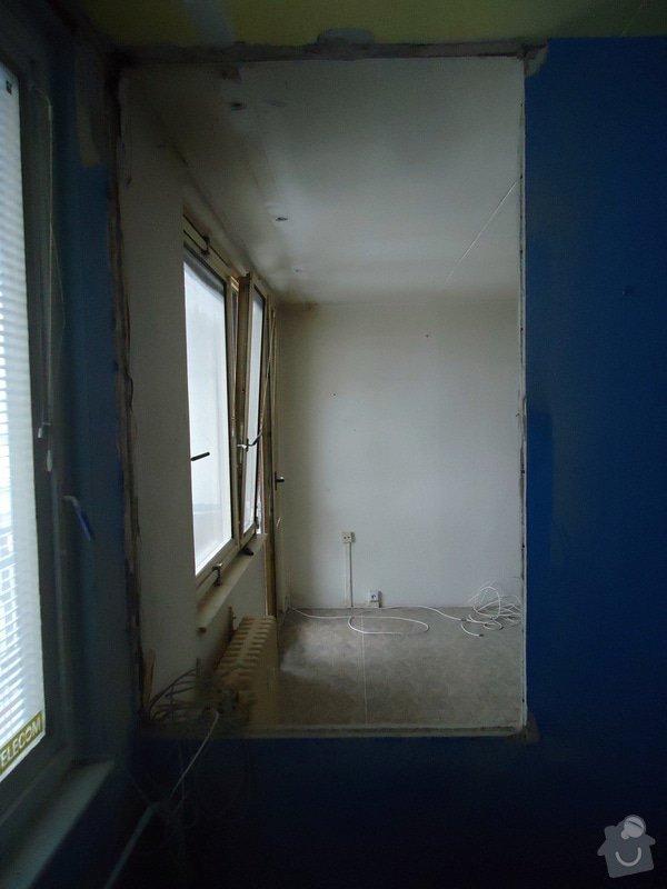 Zednické práce panel. byt - částečné odbourání příčky: DSC00975