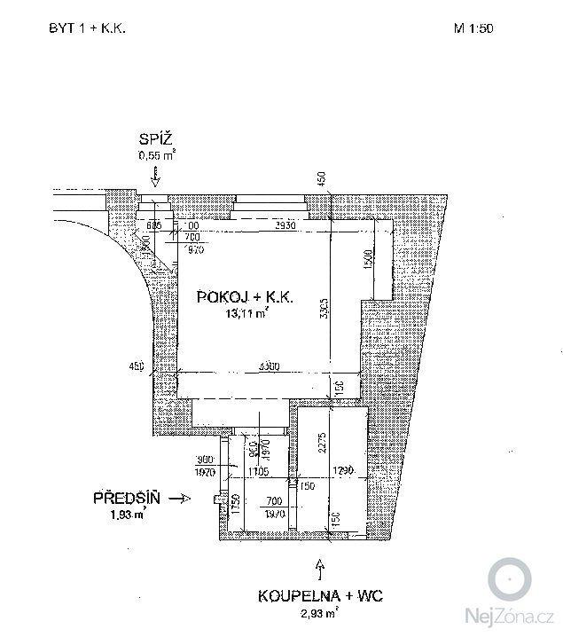 Rekonstrukce koupelny 2,93m2: Byt_8___58_3a