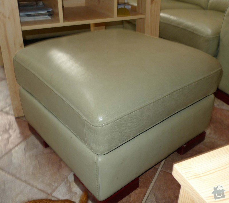 Vyčištění kožené sedačky barva hrášková: P11009500
