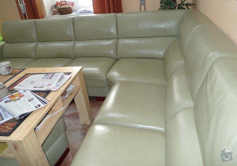 Vyčištění kožené sedačky barva hrášková: P11009499