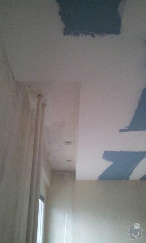Sádrokartonový podhled pokoj 24m: 20121129_104552