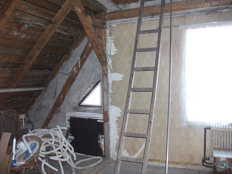 vyhotovení projektu a rekonstrukce podkroví,: puda0