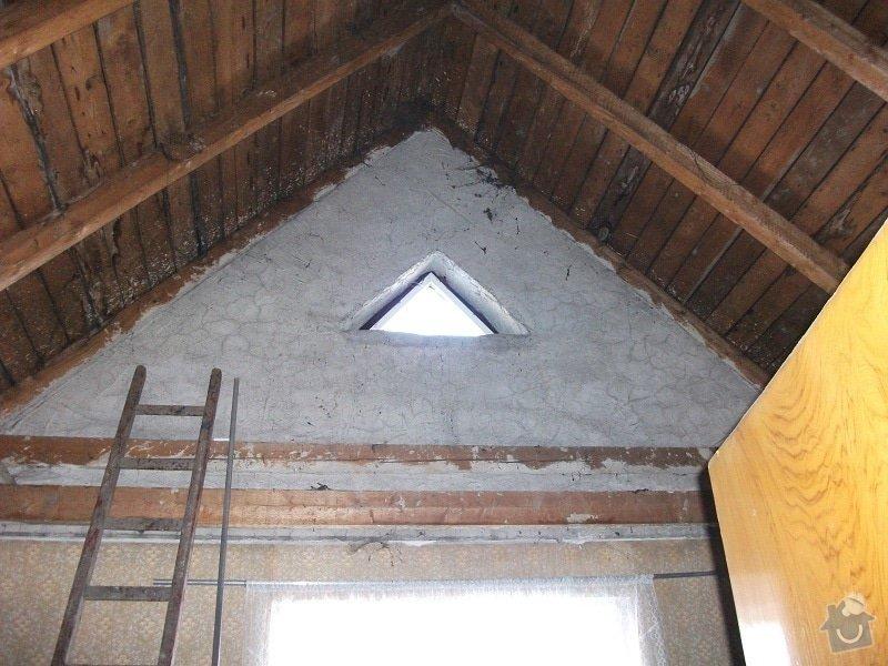 vyhotovení projektu a rekonstrukce podkroví,: puda