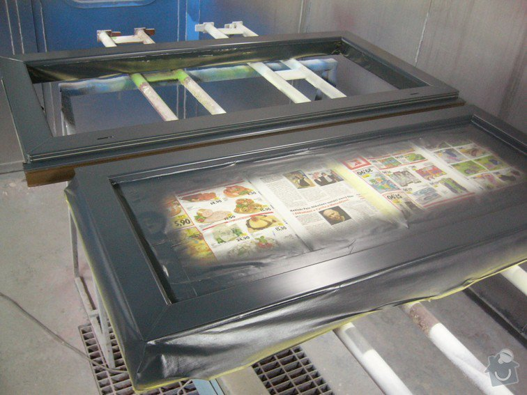 Lakování plastového okna: P1030758