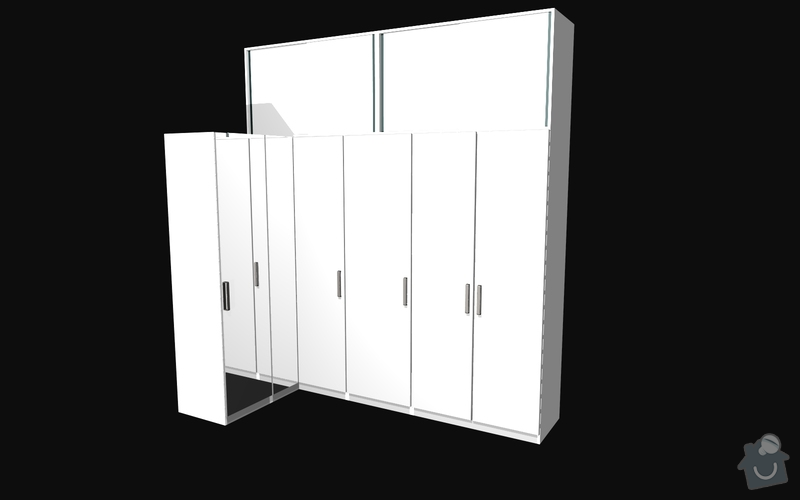 Výroba vestavěné skříně: S4