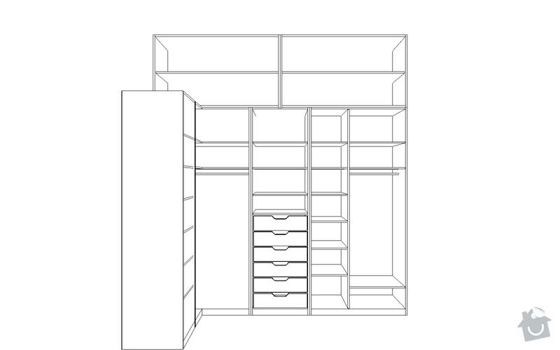 Výroba vestavěné skříně: S5