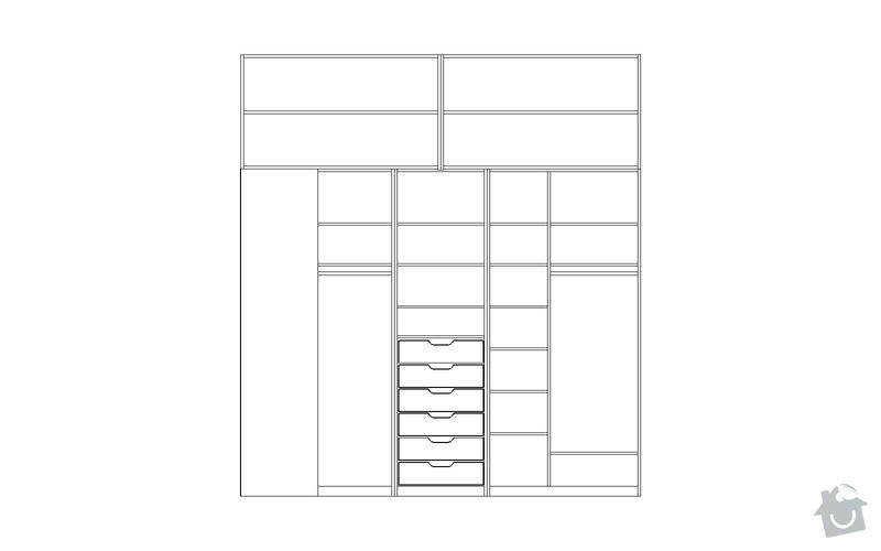 Výroba vestavěné skříně: S6