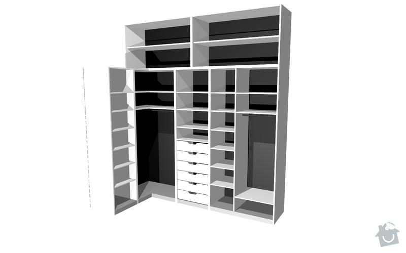 Výroba vestavěné skříně: S7