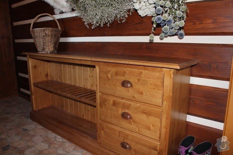 Vybavení roubenky nábytkem, kuchyňská linka a návrh a realizace obkladů roubenky: IMG_3436