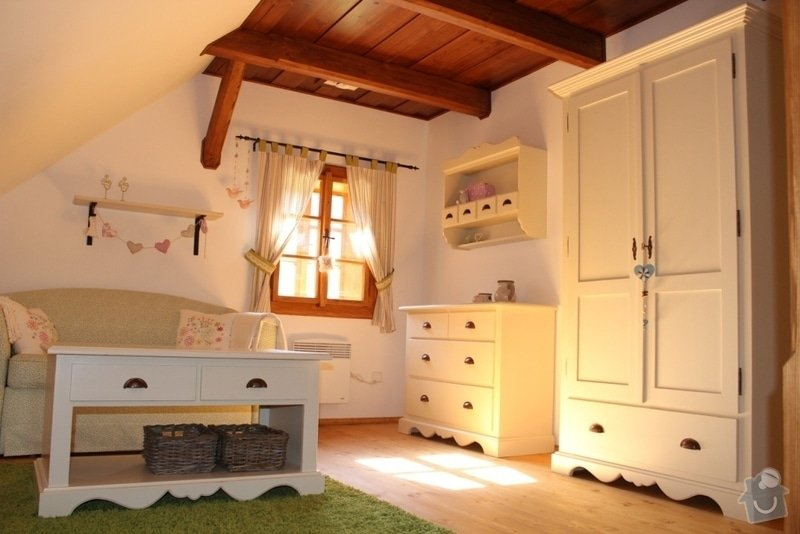 Vybavení roubenky nábytkem, kuchyňská linka a návrh a realizace obkladů roubenky: IMG_4475
