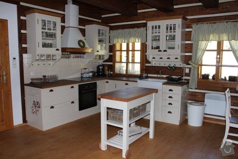 Vybavení roubenky nábytkem, kuchyňská linka a návrh a realizace obkladů roubenky: IMG_3255