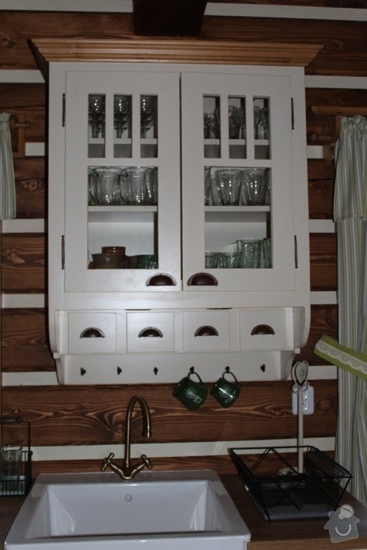 Vybavení roubenky nábytkem, kuchyňská linka a návrh a realizace obkladů roubenky: IMG_3262