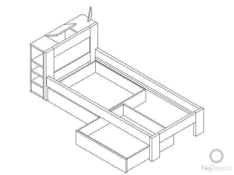 Postel z masivu (spárovka): postel_perspektiva