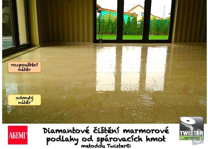 Hloubkové čištění leštěného mramoru včetně nano impregnace.: FOTO_2