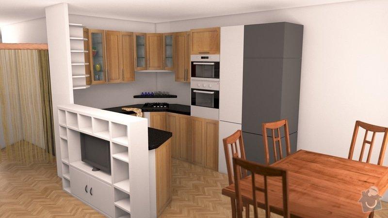 Výroba kuchyňské linky včetně materiálu a montáže: 3D