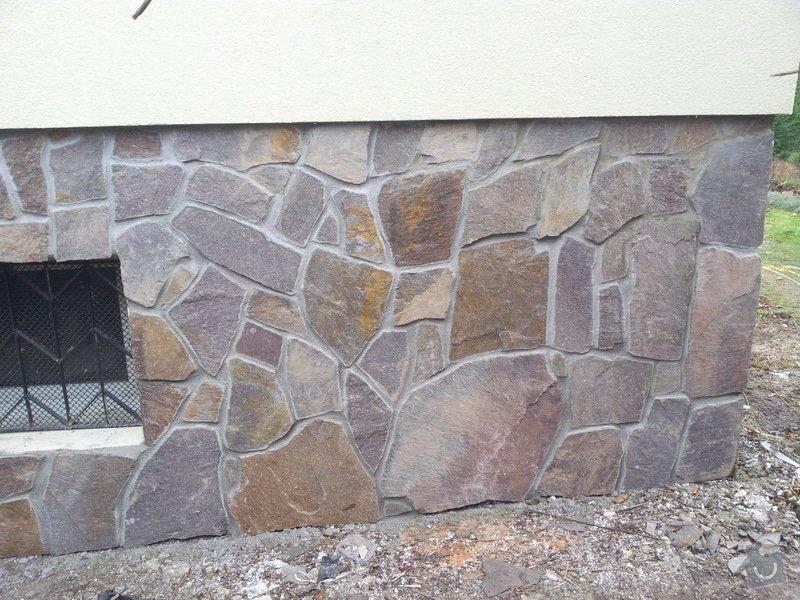 Obklad soklu rodiného domu přírodním kamenem: DSC_0093