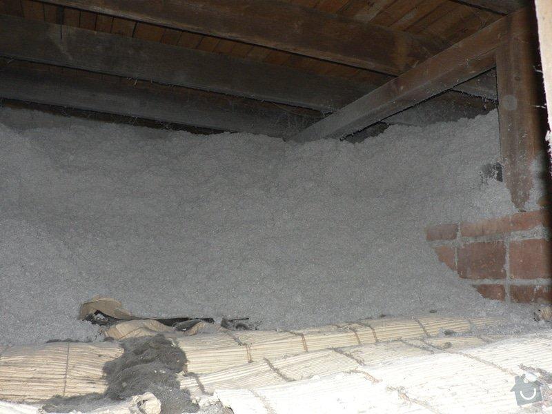 Foukaná izolace ploché střechy a vytvoření podhledu.: P1080894