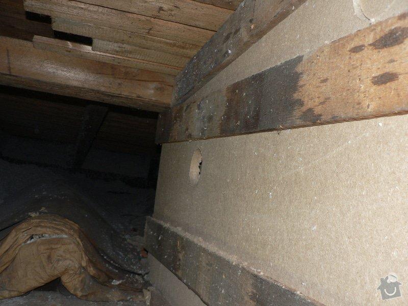 Foukaná izolace ploché střechy a vytvoření podhledu.: P1090024