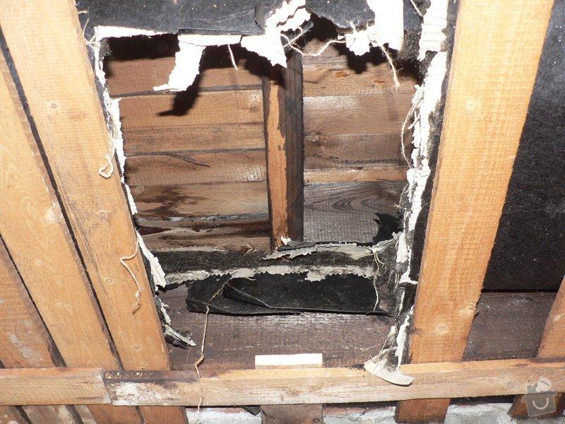Foukaná izolace ploché střechy a vytvoření podhledu.: P1080903