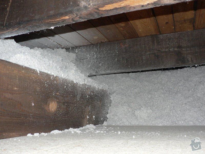 Foukaná izolace ploché střechy a vytvoření podhledu.: P1090014