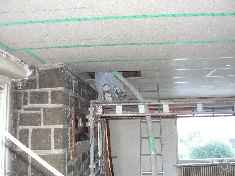 Foukaná izolace ploché střechy a vytvoření podhledu.: P1090027
