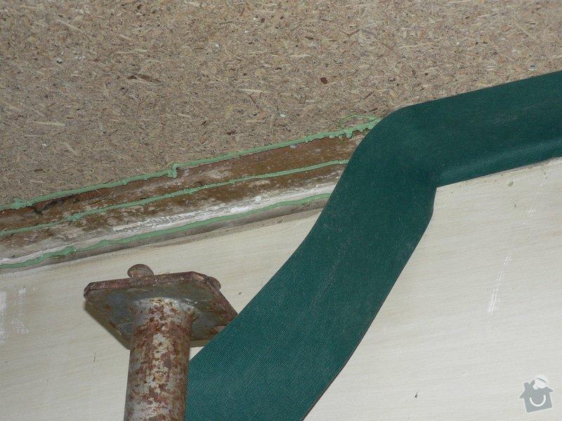 Foukaná izolace ploché střechy a vytvoření podhledu.: P1090043