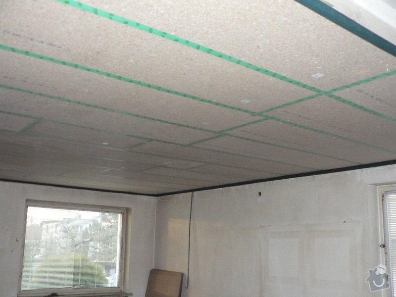 Foukaná izolace ploché střechy a vytvoření podhledu.: P1090064