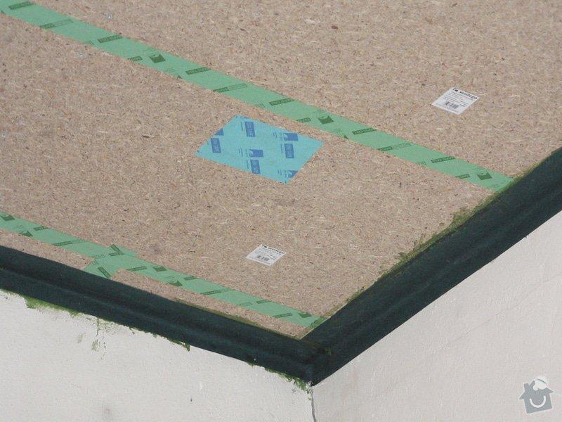 Foukaná izolace ploché střechy a vytvoření podhledu.: P1090071