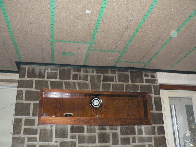 Foukaná izolace ploché střechy a vytvoření podhledu.: P1090073