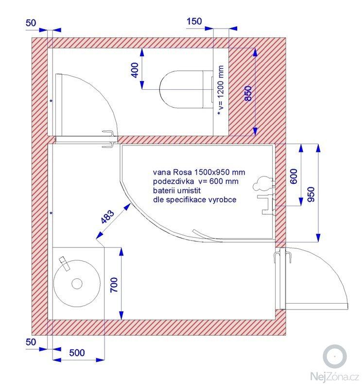 Rekonstrukci koupelnového jádra: pudorys_po_rekonstrukci