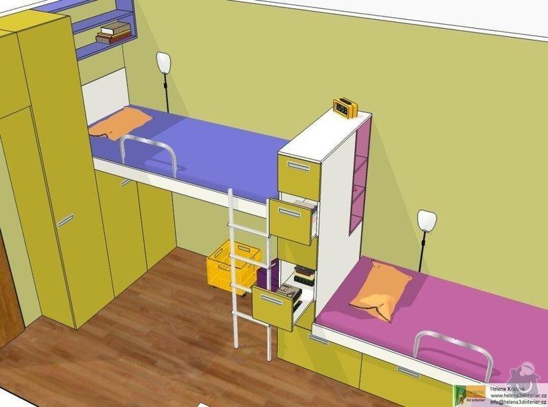 Návrh dětského pokoje: t_t_pokoj3